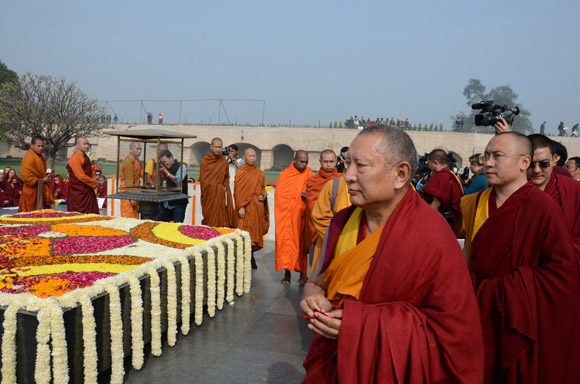 Ven. Kirti Rinpoche at Rajghat