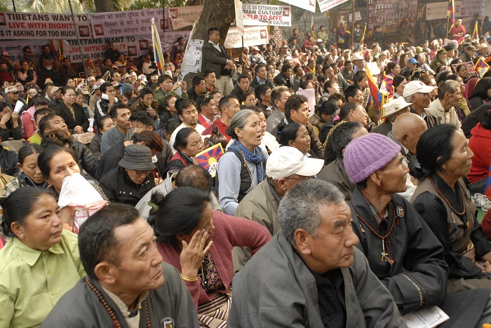 A section of crowd at Jantar Mantar