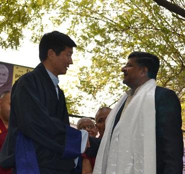 Shri Ravi Shankar Prasad with Sikyong
