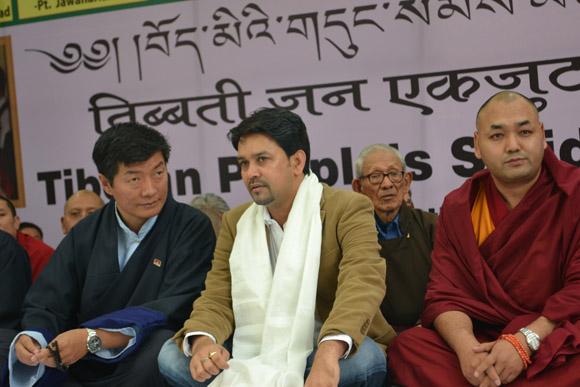 Shri Anurag Thakur with Sikyong and Deputy Speaker